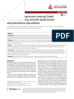 Anxiety and Depression Among Greek Men With Primary Erectile Dysfunction and Premature Ejaculation
