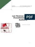 Tecnicas y Procedimientos de Auditoria Gubernamental