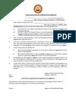 Anti Ragging Self Declaration