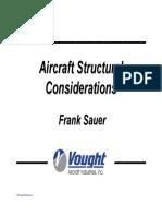 Aircraft Structural Considerations Fall 2008