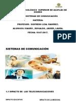 Unidad I Fundamentos de telecomunicaciones SISTEMAS DE COMUNICACIÓN