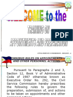 Guidelines on Appoinments