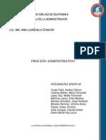 #2 El Proceso Administrativo