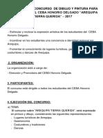 Bases Para El Concurso de Dibujo y Pintura Para Estudiantes Del Ceba Honorio Delgado