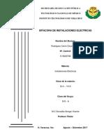 BITACORA INSTALACIONES ELECTRICAS