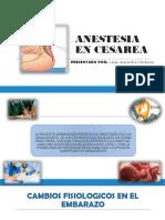 Anestesia en Cesarea