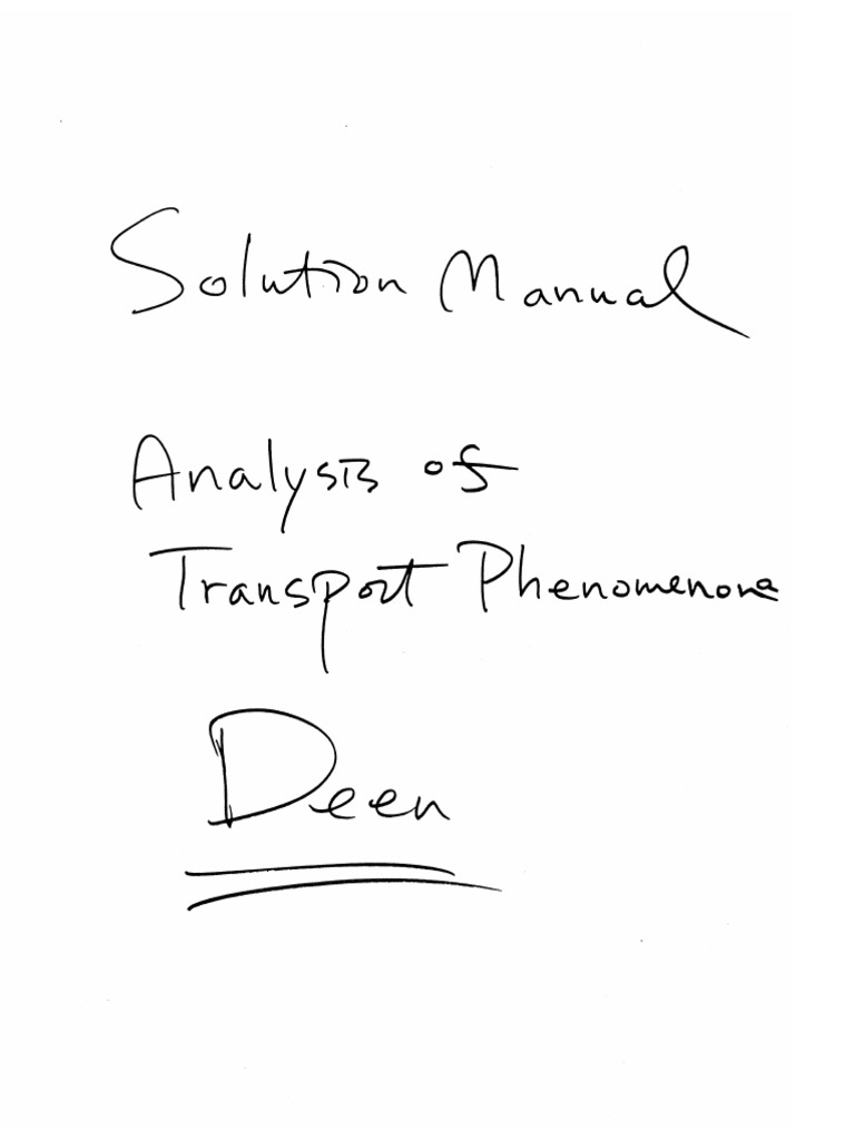 William M. Deen-Analysis of Transport Phenomena _ Solution Manual (1998).pdf