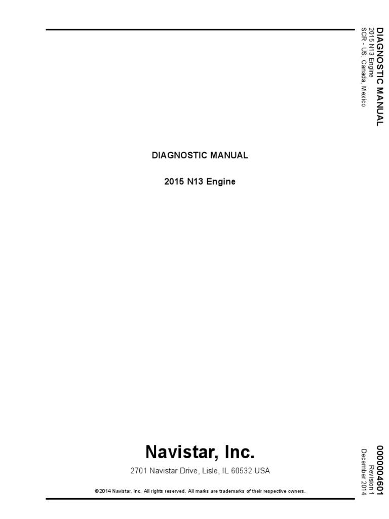 2015 N13 Engine Diagnostic Manual   Medical Diagnosis   Engines