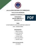 Informe de Topografia 6 Metodos de Liga y Alinamiento