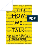 How we talk - N J Enfield