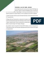 Informe Presa Peña Negra - Arequipa