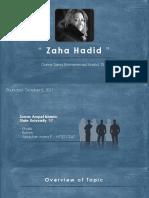 Presentasi Pengantar Arsitektur Zaha Hadid