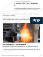 Fire Resistance of Concrete -As a Materials and Structures