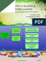 EDUP 3073 Topik 2 Sosiobudaya Dan Teori Sosial
