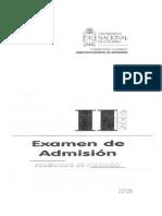 Examen Admisión Universidad Nacional de Colombia Sede Bogotá 2005