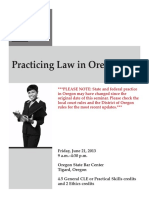 Practicing Law in Oregon