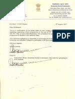 7674209 UGC Letter Regarding Quiz Programme