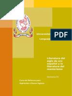 Material Semana 4 de [Lenguaje y Literatura] [Literatura Del Siglo de Oro Español y La Literatura Del Manierismo] Version PDF