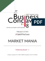MarketMania Preliminary Round #1