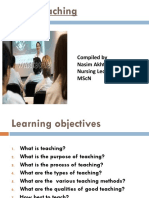 Introduction of Teaching