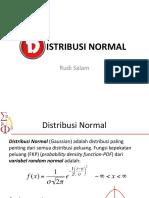 Pertemuan12 Distribusi Normal