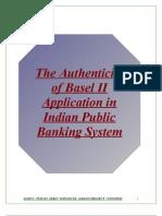 Synopsis Basel II