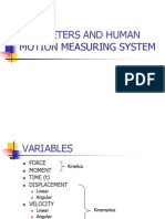 2b-Parameters and Human Motion Measuring System