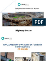 USE of DWC Giga Pipes in Highway Construction