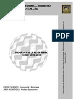 Analysis Regional Econ Andaluza