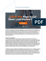3 Sure Fire Ways to Cut Down on Loan Review Costs