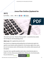 A Standard Business Plan Outline [Updated for 2017] _ Bplans