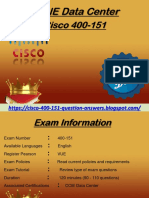 Cisco Accurate Study Material & 400-151 Valid Questions