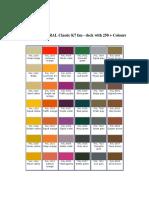 RAL Classic K7 Colour FAN