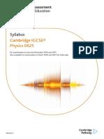 CIE -IGSCE - Physics Syllabus - 2020-2021
