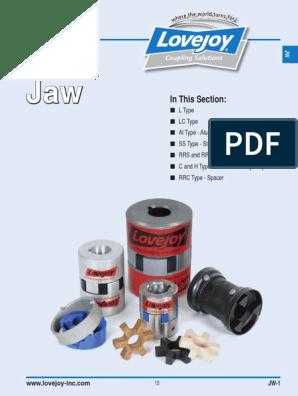 L190-1-7//8 L190 JAW COUPLING HUB FACTORY NEW!