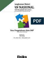 Rangkuman Materi UN IPA SMP (Fisika, Biologi, Dan Kimia)