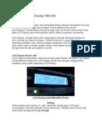 Pengaturan LCD Display Mikrotik
