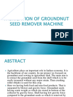 Fabrication of Groundnut Seed Remover Machine