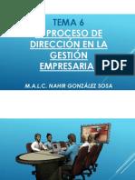 Tema 6 (El Proceso de Dirección en La Gestión Empresarial)