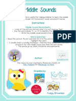 Middle Sounds Worksheet Activities