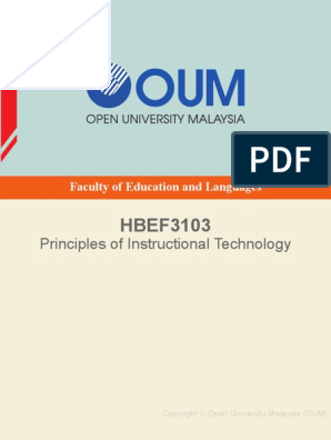 Hbef3103 Instructional Design Educational Technology