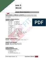 2 - Formulae