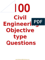 100 Civil Engineering Objective Type Questions