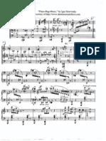 (SCORE) Stravinsky -Piano Rag - Music Sheet
