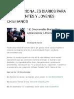 150 Devocionales Diarios Para Adolescentes y Jovenes Cristianos