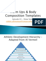 Episode 43 :Warm Ups & Body Composition Templates - Podcast Show Notes