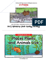 Level D-places Plants and Animals Live-book