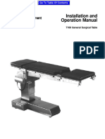 Ohio 7100 Operating Table - Installation and User Manual