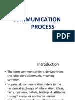 Communicaion Process