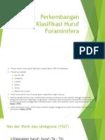 Perkembangan Klasifikasi Huruf Foraminifera